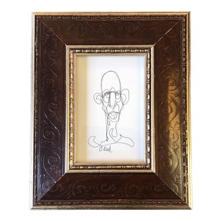 Original Contemporary Giacometti Abstract Portrait Drawing by Cody Orrell For Sale