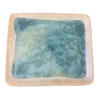 Pacific Northwest Handmade and Glazed Serving Tray For Sale