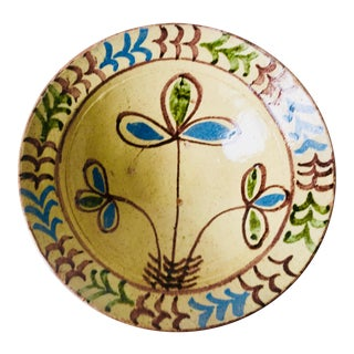 "French Country 11""Hand-Painted Terra Cotta Bowl For Sale"