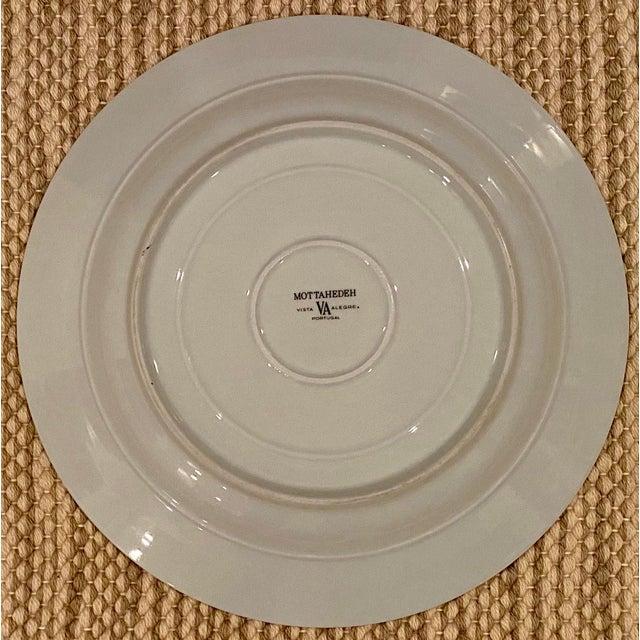 Mottahedeh Vintage Mottahedeh Blue Dragon Round Platter/Chop Plate For Sale - Image 4 of 7