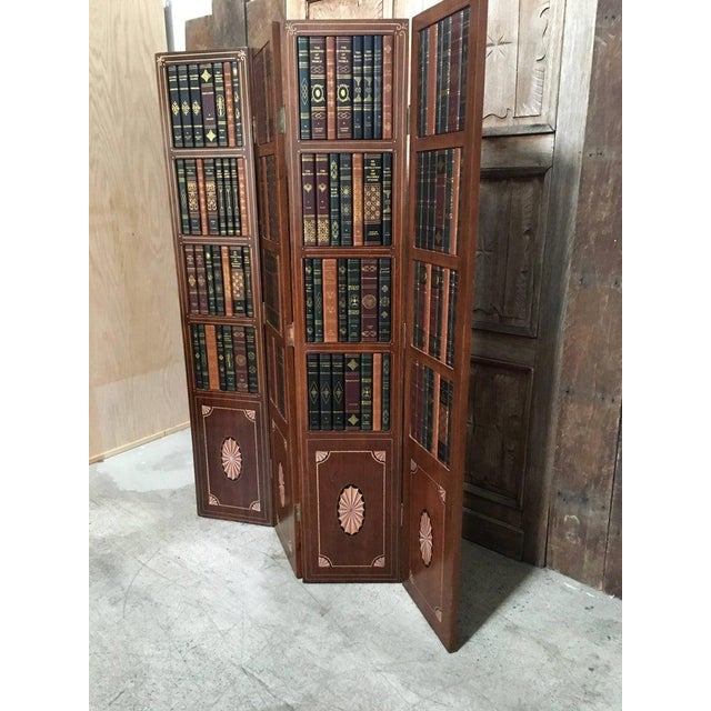Mid 20th Century 20th Century Leather Book Room Divider For Sale - Image 5 of 9