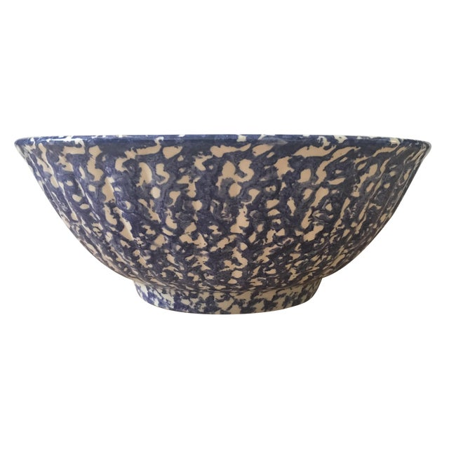 Large Blue & White Bowl - Image 1 of 7