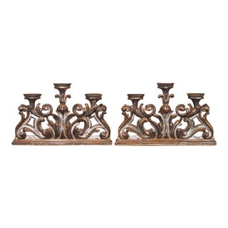 Pair Italian 19th Century Candelabra For Sale