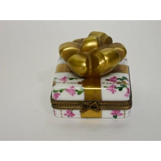 Limoges France Hand Painted Chintz Trinket Bow Box Preview