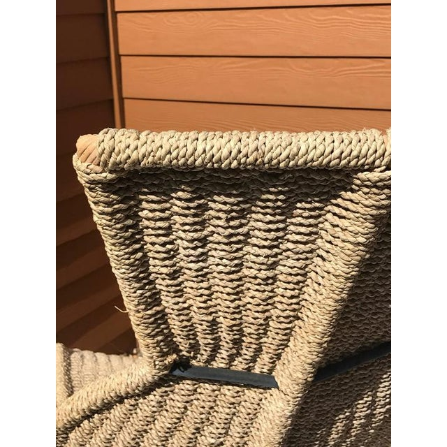 Sculptural Woven Rope Chaise Longue For Sale - Image 5 of 7