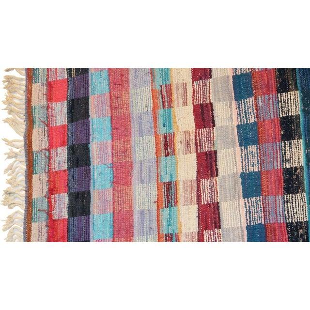 """Vintage Boucherouite Carpet - 9'2"""" X 4'1"""" - Image 4 of 4"""