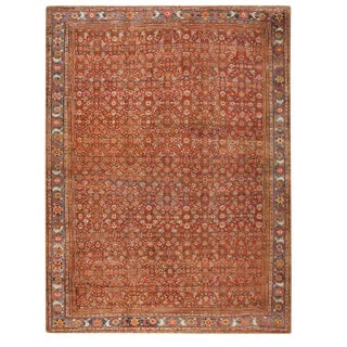 Antique Oversize 19th Century Persian Sultanabad Carpet For Sale