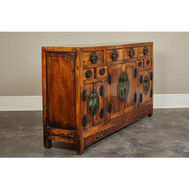 Asian Rare 19th Century Chinese Elm Sideboard For Sale - Image 3 of 10
