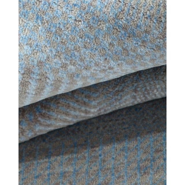 """Textile Contemporary Hand Loomed Area Rug 7' 11"""" x 9' 11"""" For Sale - Image 7 of 9"""