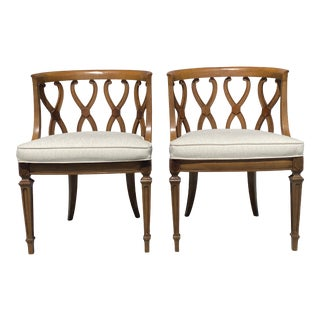 Wood Club Chairs From 1970's a Pair For Sale