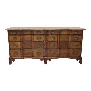 "Century Mahogany Block Front Double Dresser; ""The Henry Ford Museum"" Collection For Sale"