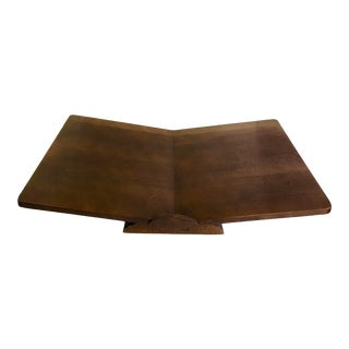 Mid-Century Large Wood Tabletop Book Stand Holder For Sale