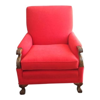 Red-Orange Accent Chair