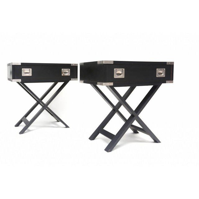 Director Style Side Tables For Sale - Image 4 of 7