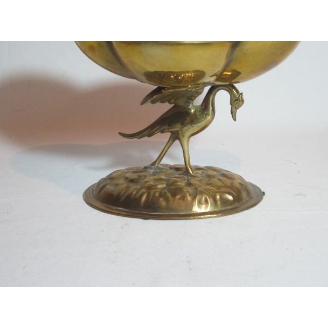 Solid Brass Bird Compote - Image 6 of 6