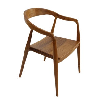 Modern Brown Wooden Chair For Sale