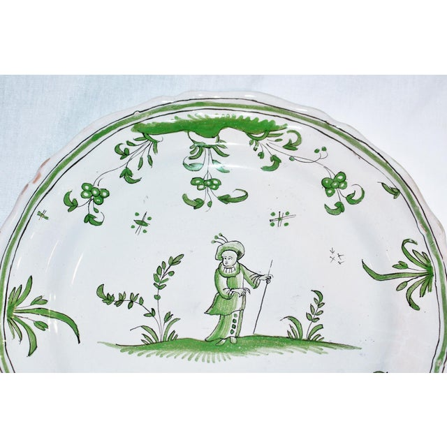 French Faience Quimper-Style Plate - Image 3 of 4