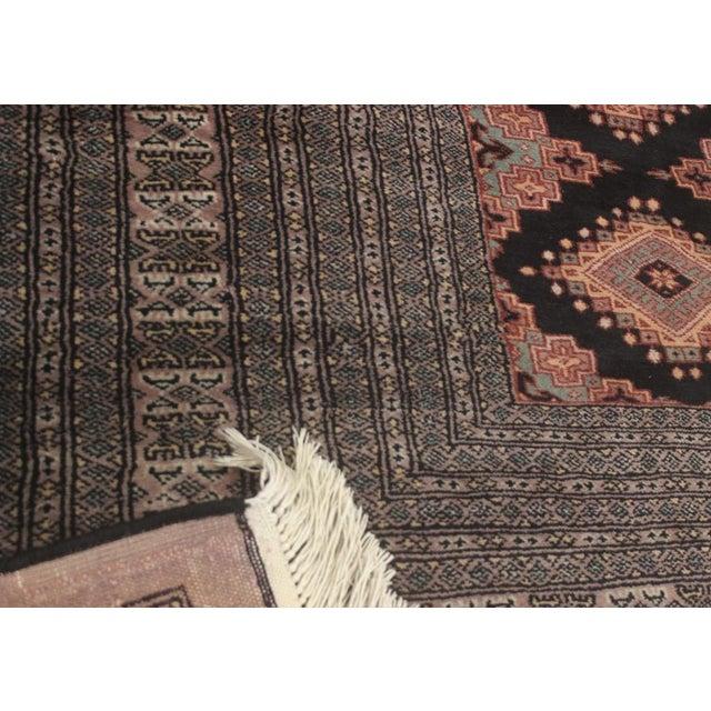 """Bokara Arya Kum Black & Brown Wool Rug - 10'3"""" x 13'11"""" For Sale In New York - Image 6 of 7"""