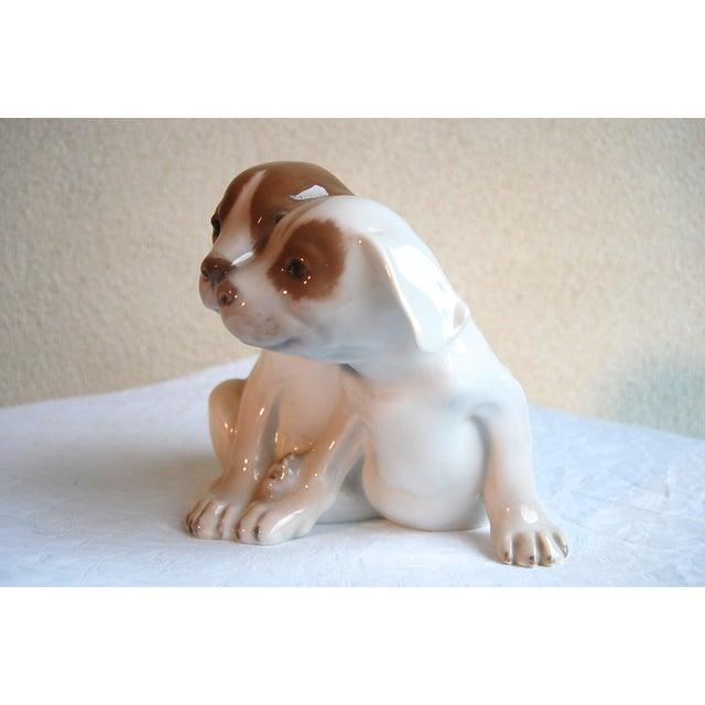 Figurative Royal Copenhagen Denmark, Porcelain Pointer Puppies Dog Figurine, 1889-1922 For Sale - Image 3 of 7