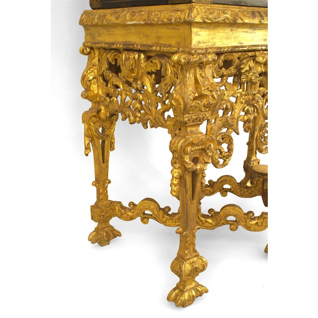 17th Century Chinese Coromandel Cabinet on a Charles II Gilt-Wood Stand For Sale - Image 11 of 12
