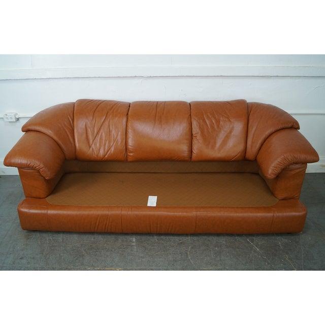 Natuzzi Vintage Caramel Color Leather Sofa - Image 8 of 10