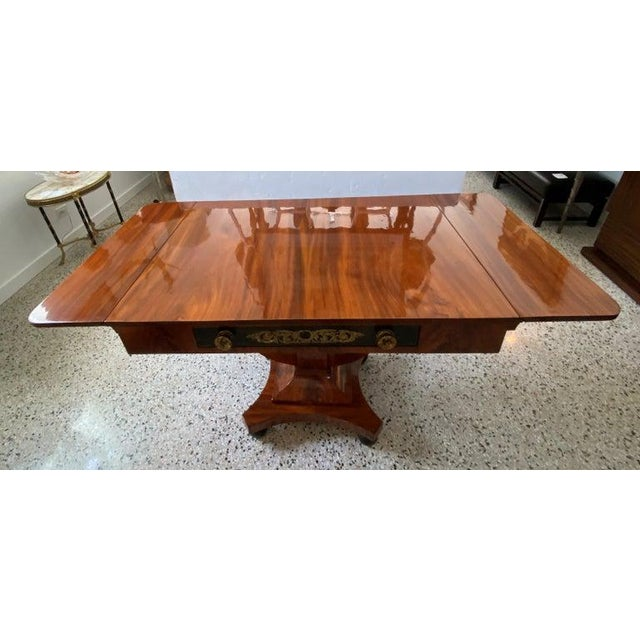 Antique 1820s-1830s Baltic Regency Style Library Table For Sale - Image 4 of 13