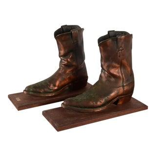 Bronze Cowboy Boots