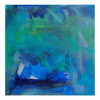"""Blue"" Small Abstract Oil Painting by Trixie Pitts"
