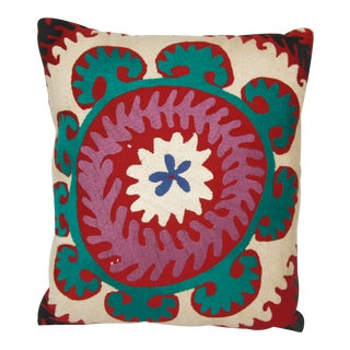 Floral Suzani Pillow Cover For Sale