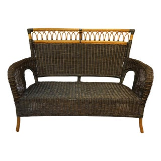 Wicker & Bamboo Settee