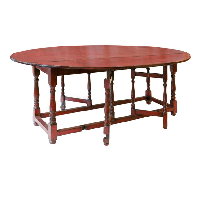 Red Lacquered English Table For Sale - Image 13 of 13