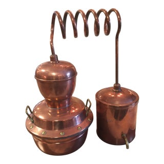 Vintage Decorative Copper Alembic Still M. Delalande Villedieu France For Sale