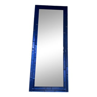 Contemporary Cobalt Blue Glass Mirror For Sale