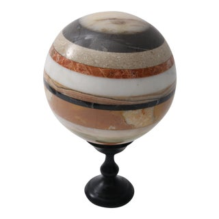 1960s Vintage Marble Sphere on Stand For Sale