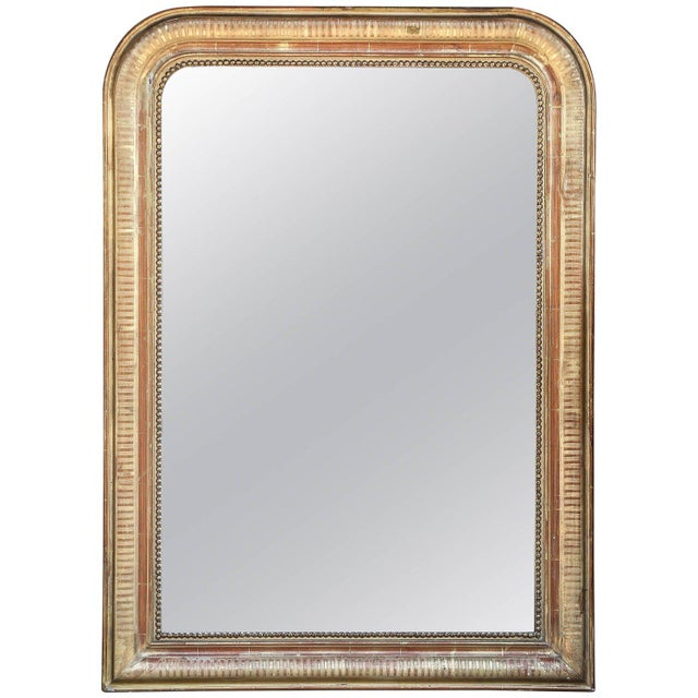 19th Century French Louis Philippe Beaded Gilt Frame Mirror For Sale - Image 11 of 11