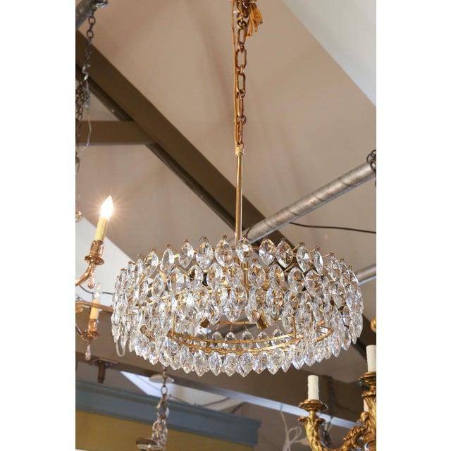 Vintage Austrian Palwa Crystal Chandelier For Sale - Image 9 of 9