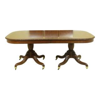 John Widdicomb Walnut Carved Border Dining Room Table For Sale