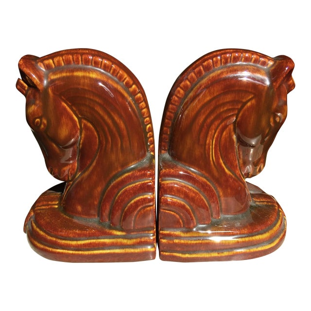 Art Deco Horse Head Bookends - A Pair - Image 1 of 5