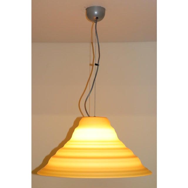 "Glass ""Incamiciato"" Amber Murano Glass Mid-Century Modern Pendant Light For Sale - Image 7 of 11"