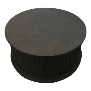 Noir Round Rustic Coffee Table For Sale