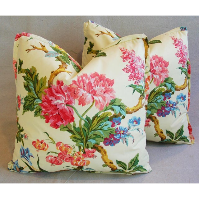 Brunschwig & Fils Coligny Spring Floral Pillows - a Pair - Image 2 of 10