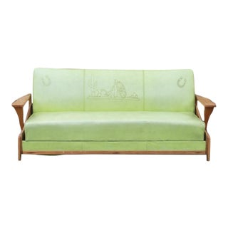 Mid-Century Western Lime Green Sofa