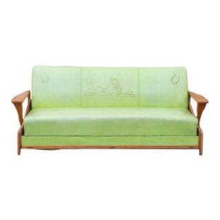 Mid-Century Western Lime Green Sofa
