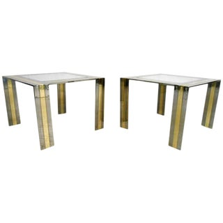 Pair of Vintage Modern End Tables in the Style of Paul Evans For Sale