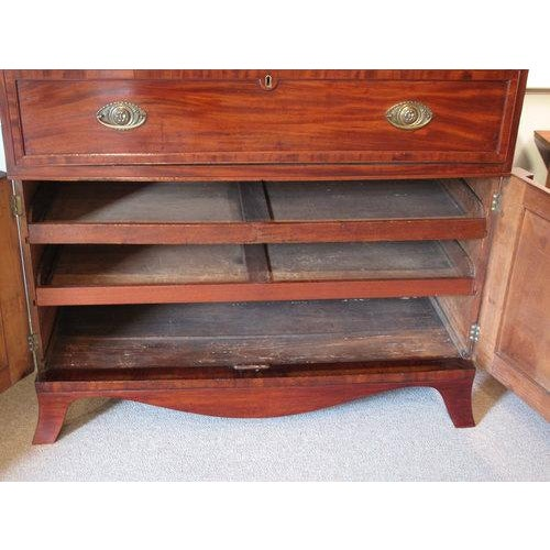 Glass English William IV Mahogany Secretary Bookcase For Sale - Image 7 of 11