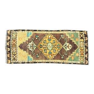 Turkish Oushak Handmade Brown and Yellow Rug For Sale