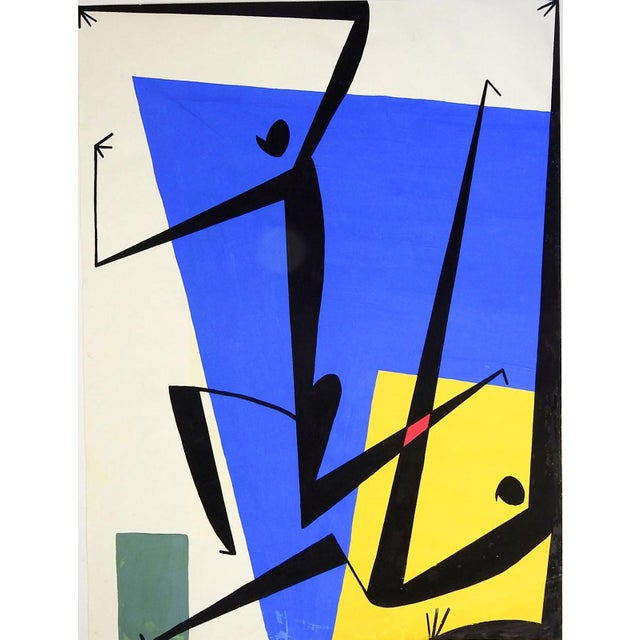 Abstract Figures Painting For Sale - Image 4 of 4