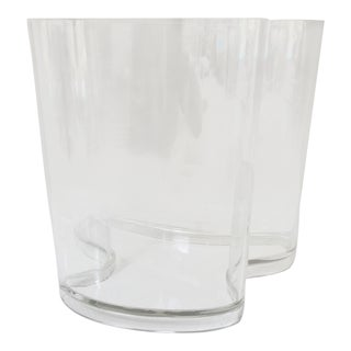 Lucite, Monumental, Organically Shaped Vase by Guzzini, Italy For Sale