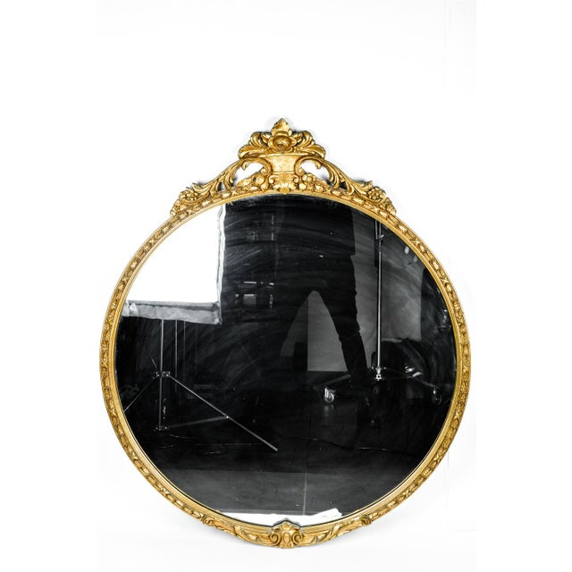 Antique Giltwood Framed Mantel Fireplace Hanging Mirror For Sale - Image 4 of 6