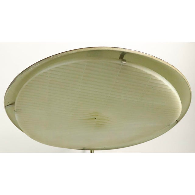 Metal Mid Century Disk Lamp by Thurston for Lightolier For Sale - Image 7 of 10